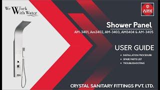 ARK - Shower Panel - User Guide