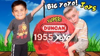 World's Biggest YO-YO Surprise Egg! Cool Yo-Yo TRICKS with HobbyGuy+ HobbyPapa HobbyKidsTV
