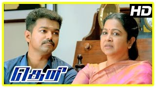Theri movie | Raadhika scenes | Vijay | Samantha | Rajendran | Sunaina
