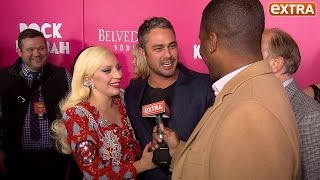 Lady Gaga & Taylor Kinney Hit the Red Carpet, Play Coy About Wedding Plans