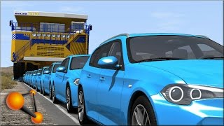 BeamNG Drive Stressed Out #3 With Huge Trucks