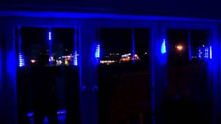 BLÅ 30CM Meteor Shower Rain Tubes LED Light