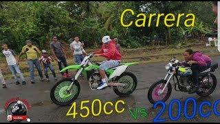 SUPER GATO 200 VS CG LIBRE Y SUPER MOTO KAWASAKI 450cc HD EVENTO COTUI PARTE 3.