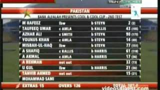 Abdul Rehman And Tanvir Ahmed Batting In 2nd Test