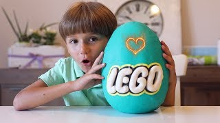 Green or Blue Big Lego Egg Made of Play Doh