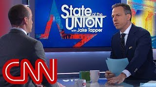 Jake Tapper to Trump adviser: Settle down