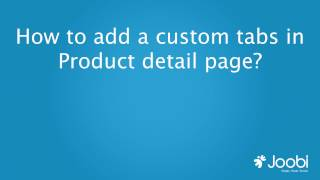 How to add a custom tabs in Product detail page?