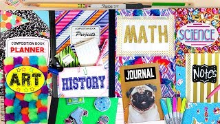 DIY Back To School Notebook Ideas! 10 EASY ways to spice up boring notebooks! GlitterForever17