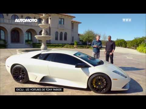Tony Parker présente sa Lamborghini Murciélago de 750 ch