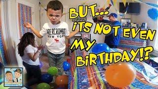 FAKE BIRTHDAY CELEBRATION! MOM & DAD DECORATE ROOM! BIG SURPRISE! FUNNY REACTION! DINGLEHOPPERZ VLOG