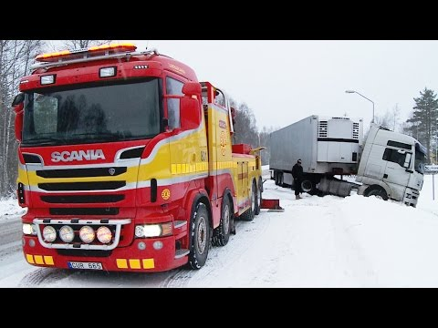 Scania 8x4 Boniface vs MAN Heavy Recovery Sweden