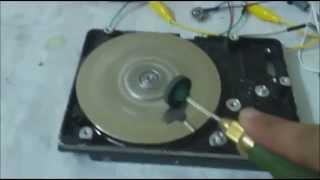 توليد كهرباء من موتور الهاردد يسك DC HDD motor generator