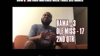How Bama Fans Watched The Week Three SEC Games