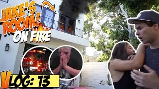 SET JAKE PAUL'S ROOM ON FIRE (PRANK GONE RIGHT!)