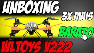 Unboxing - Drone WLToys V222 Direto da China 3x Mais Barato