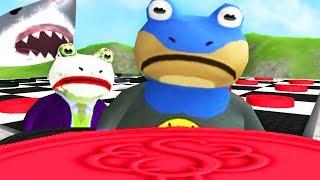 BAT FROG vs JOKE FROG GIANT CHECKERS - LOSER FEEDS GIANT SHARK - Amazing Frog - Part 120 | Pungence