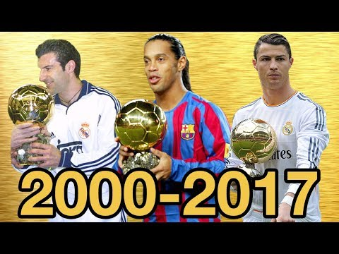 Ballon d Or Top Tens From 2000 2017