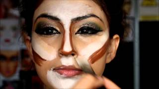 Pakistani bridal makeup mehndi mayun bride slough -  5day MAKEUP COURSES