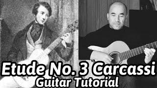 Etude No.3 'Study in A Major' | Carcassi | Classical Guitar Lesson | NBN Guitar