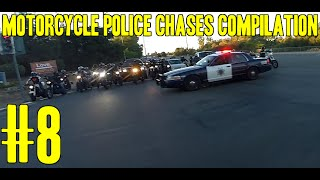 Motorcycle Police Chases Compilation #8 - FNF