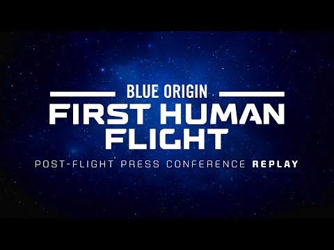 Replay First Human Flight Post Flight Press Conference