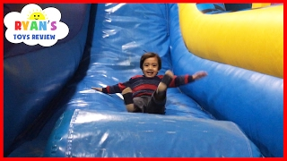 Indoor Playground for Kids Pump It Up Bounce House and Obstacle Course! Children Play Center