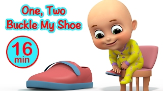 One Two Buckle My Shoe | Number Learning song for Kids | nursery rhymes from Jugnu Kids