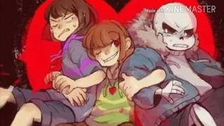 Sans, cara and frisk trio stronger then you!