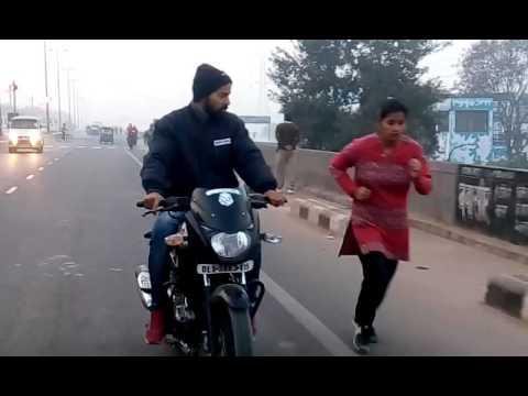 Hitech Running video Delhi police Physical test girls