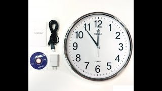 Hidden Spy Cam WIFI Clock Setup and price in  Pakistan