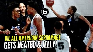 Gets HEATED & JELLY at BIL All American Scrimmage!! Collin Sexton, JellyFam, Jaylen Hands & More