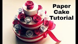 Paper Cake Tutorial   How to Make Birthday Cake