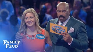 Can Chelsey and Kyle CLEAN UP? | Family Feud