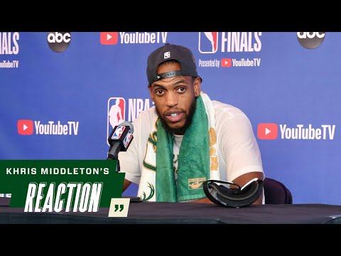 Khris Middleton NBA Finals Game Six Media Availability 7.20.21