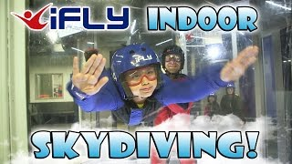 iFLY INDOOR SKYDIVING! EvanTubeHD Kids Go Flying!