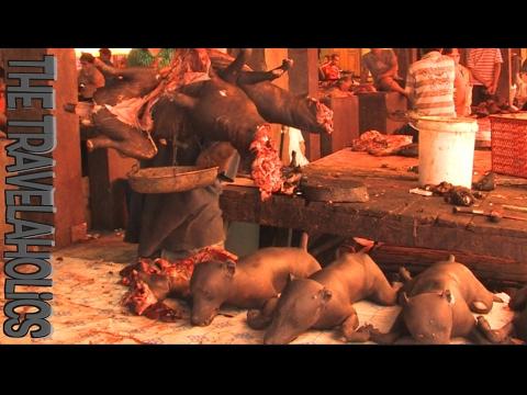 The Dog Butchering Market Tomohon Sulawesi Indonesia