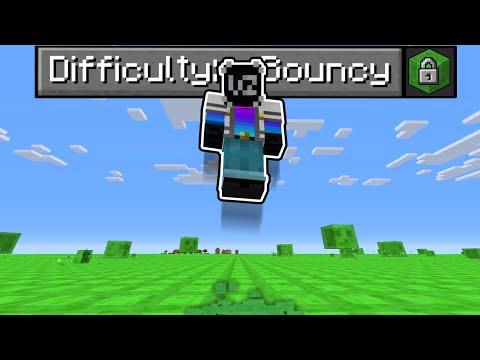 Minecraft but EVERYTHING is BOUNCY