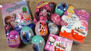 Elsa FROZEN Barbie Monster High Minnie Mouse Princess Hello Kitty Easter Surprise Eggs