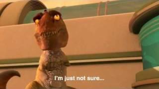 Tiny the T rex scene