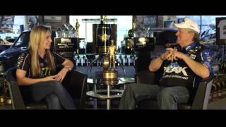 Hot Seat with John Force - Brittany Force Interview