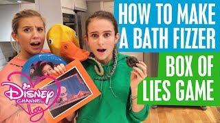 DISNEY CHANNEL VLOG | HOW TO MAKE A BATH FIZZER | BOX OF TRUTH GAME