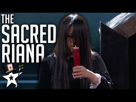 Scariest Magician EVER The Sacred Riana All Auditions And Performances America s Got Talent 2018