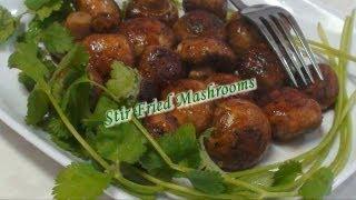 Stir Fried Mashrooms - Quick snack or Side dish