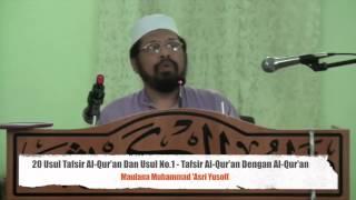 Tafsir Al- Quran Asas - Sesi 1 - Pengenalan (Usul Tafsir al-Quran)-Maulana Asri - 13 Jan 16