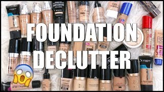 Decluttering My Makeup Collection 2017    Foundations