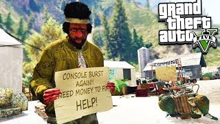 GTA 5 HOMELESS ROLEPLAY! Box House, Robbing & More!!! (GTA 5 Mods)