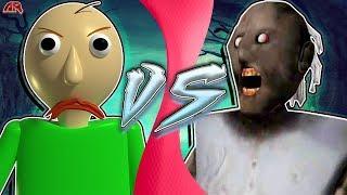 BALDI vs GRANNY! (Granny vs Baldi's Basics Animation)   CARTOON FIGHT CLUB