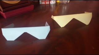كيفية عمل نظارة من الورق - أعمال ورقية