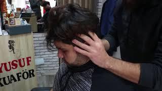 ASMR Turkish Barber Face,Head,Back and Hand Massage 84
