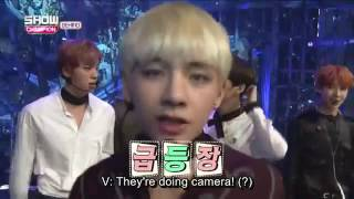 [ENG SUB] BTS- Showchampion backstage 161025